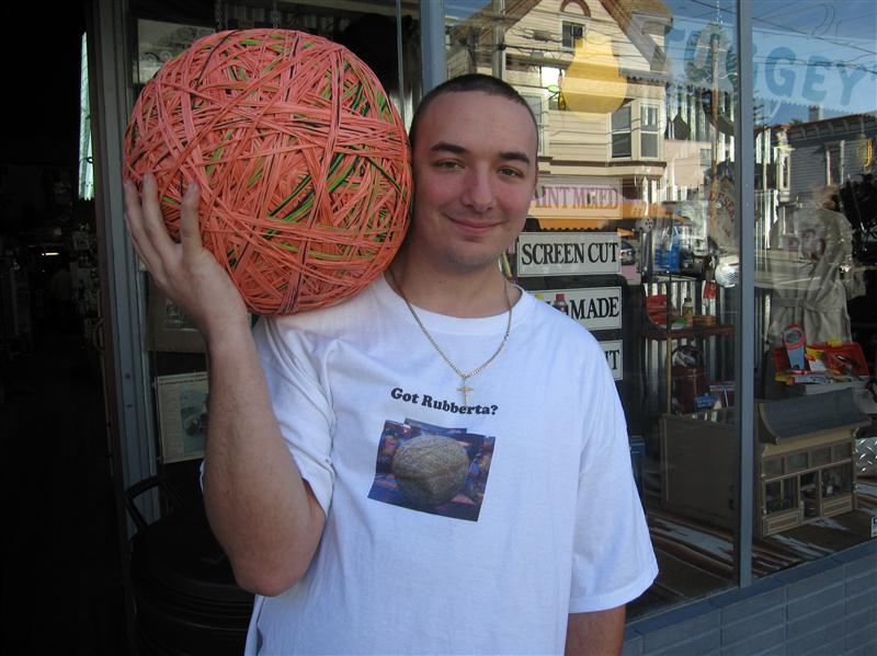 Rubber Band Ball Going For Guinness Record It Might Be A