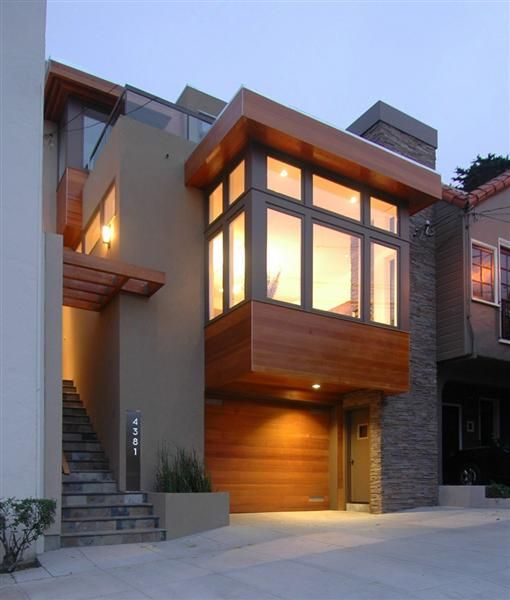 Modern Gray Exterior With Steel Beams: Architecture—Some Like It Modern